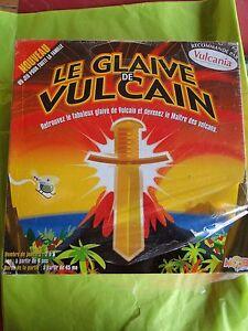 JEU SOCIETE LE GLAIVE DE VULCAIN VULCANIA MAITRE DES VOLCANS NEUF 8 ANS NEUF