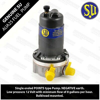 SU AUA25 Electronic Low Pressure Fuel Pump Up To 1.5psi Carb Positive Earth