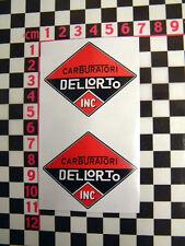 2 X SMALL DELLORTO (CARB) adesivi per girare FILTRI DELL' ARIA-LANCIA FIAT RENAULT