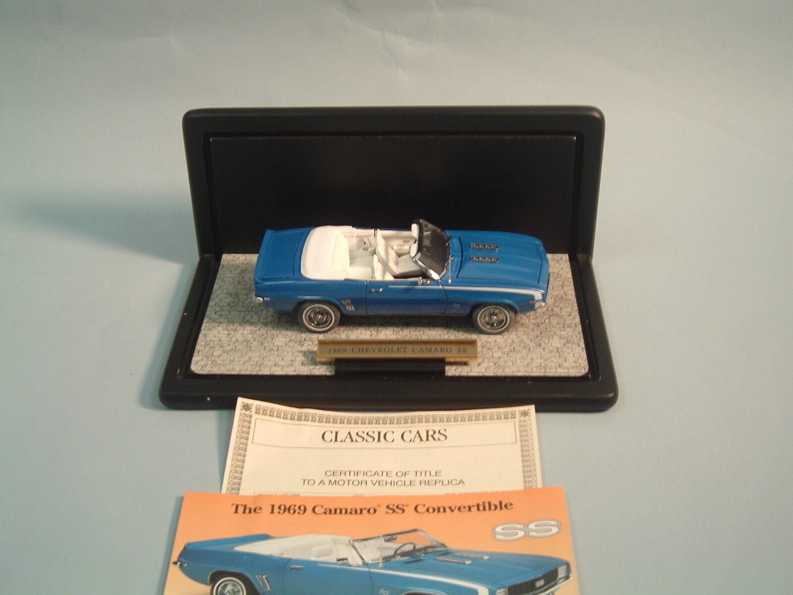 1969 chevrolet camaro ss cabrio blau   rs - 24 von display - druckguss