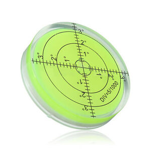 60x12mm-Precision-Green-Disc-Round-Circular-Bubble-Spirit-Level-Measuring-Tool