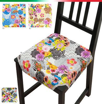 CUSCINO copri sedia ALETTE moderno cucina esterno UNIVERSALI fiori farfalle | eBay