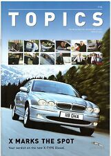 Jaguar Topics Magazine Issue 115 Winter 2003 UK Market Brochure X-Type Diesel