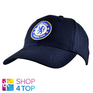 99c051bc9c8 CHELSEA FC NAVY BASEBALL CAP CORE HAT OFFICIAL FOOTBALL CLUB SOCCER ...