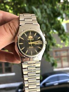 VINTAGE-Orologio-ORIENT-orologio-automatico-originale-AAA-Sfaccettato-in-Vetro