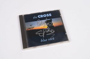 The-Cross-Blue-Rock-CD-Mit-Unterschriften-Spike-und-Peter-Noone-Autogramm