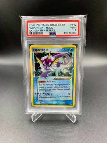 PSA 9 Vaporeon Gold Star EX Power Keepers Pokemon Card