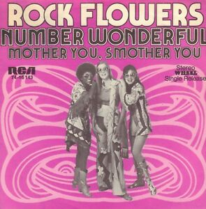 ROCK-FLOWERS-Number-Wonderful-1972-VINYL-SINGLE-7-034-RARE-PROMO-GERMANY
