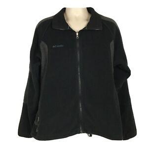 Columbia-Mens-XL-Jacket-Fleece-Core-Interchange-Black-Zip-Pockets-Coat-Warm