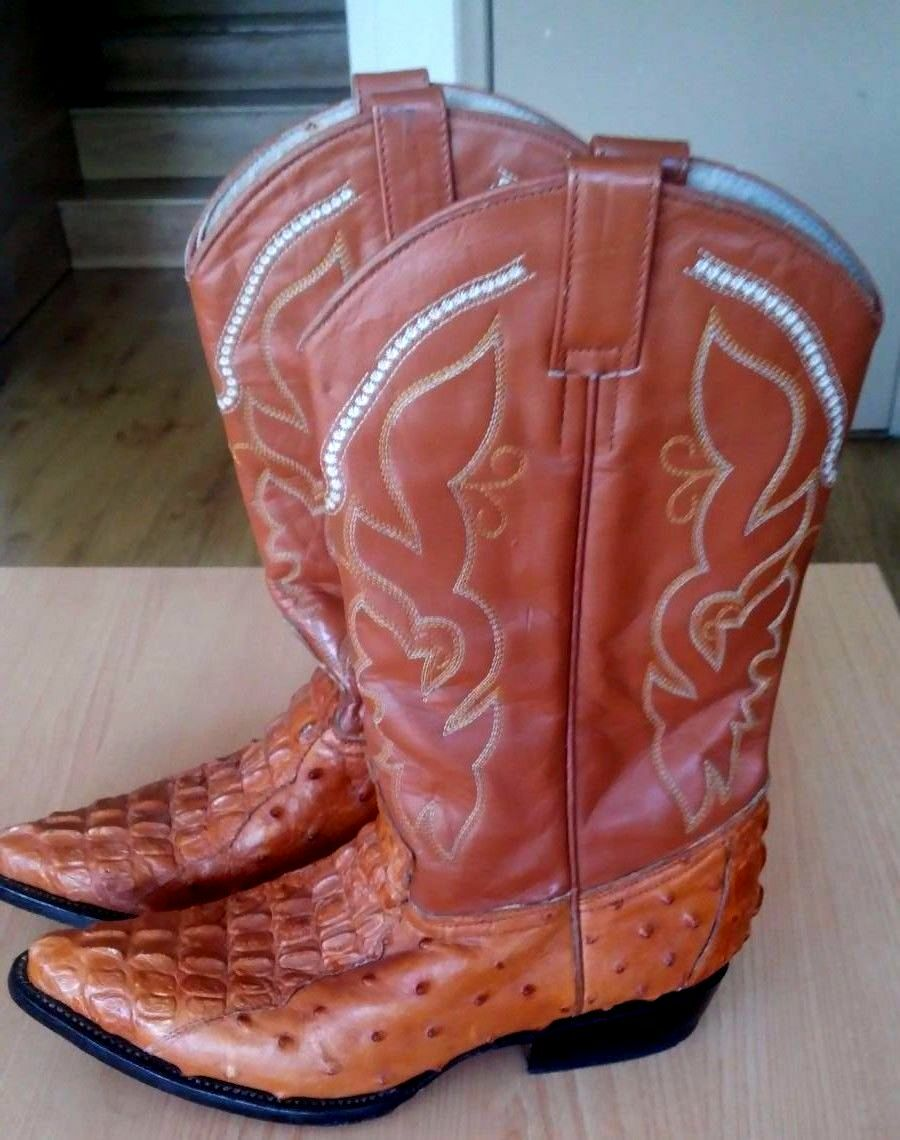 JAR BOOT S Men's Brown Leather Cowboy Boots US 8.5 made in Mexico
