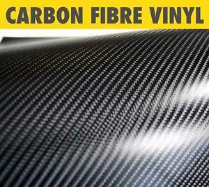 Negro 3d Fibra De Carbono Vinilo Wrap Negro Varios Tamaños air//bubble Libre
