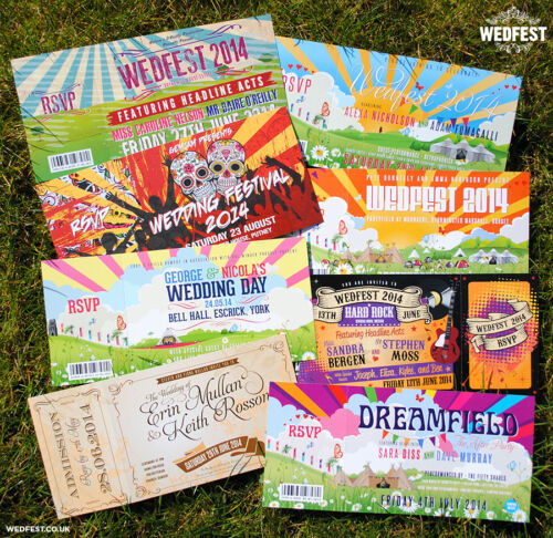 sample pack ~ Wedfest Festival Wedding I Festival Wedding Ticket style Invites