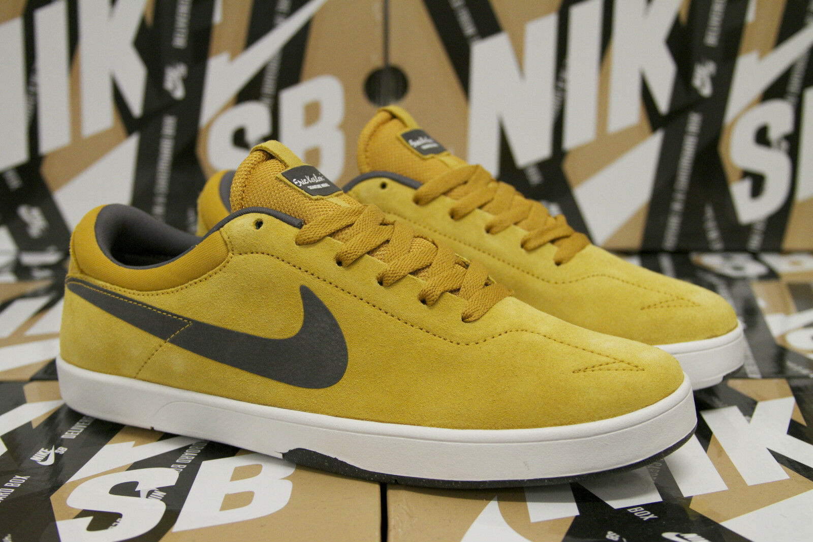 Nike SB Eric Koston Size 10 DARK gold LEAF MID FOG WHITE Yellow New 442476 701