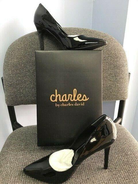charles by charles david palma patent pointed toe pump
