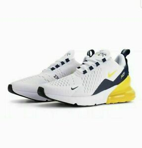 best website a723c 2414d Details about NIKE AIR MAX 270 BG YOUTH SIZE 3.5 EUR 36 (BQ5776 100) WHITE/  YELLOW/ NAVY