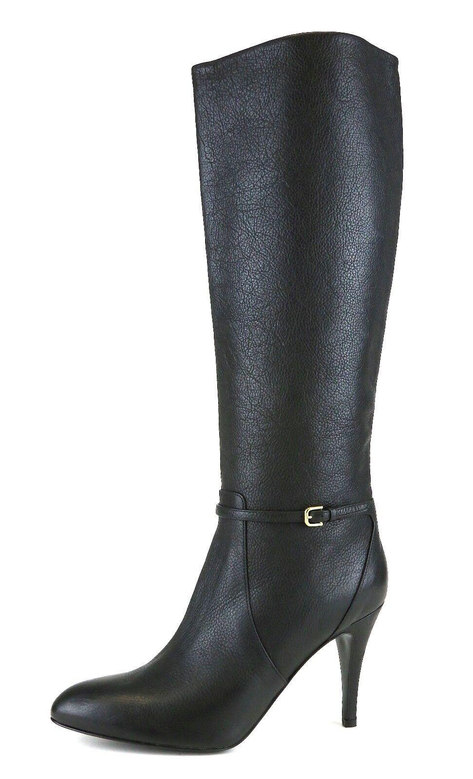 J. Crew Keegan Tacón Alto Bota De De De Cuero Negro para Mujeres Talla 9.5 5093   nueva gama alta exclusiva