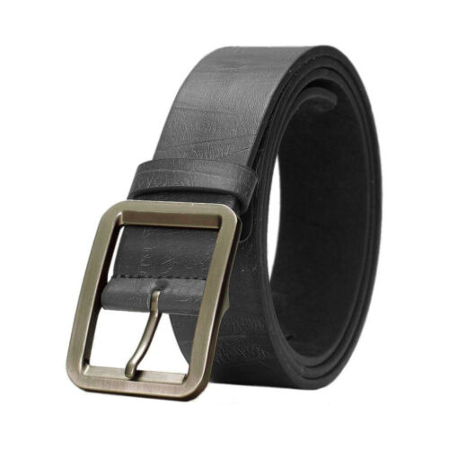 "From 30/"" to 46/"" Mens Faux Leather Belt Vegan Vegetarian Approved Sizes"