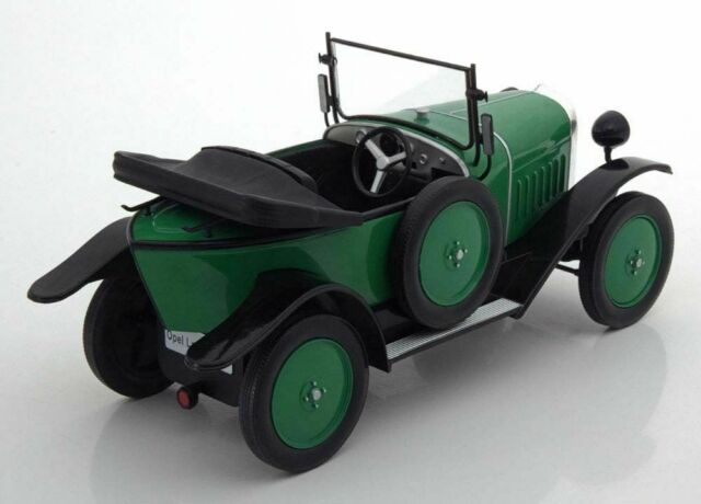 1922-1:18 #18050 McG Opel 4 CV Laubfrosch-verde-RHD