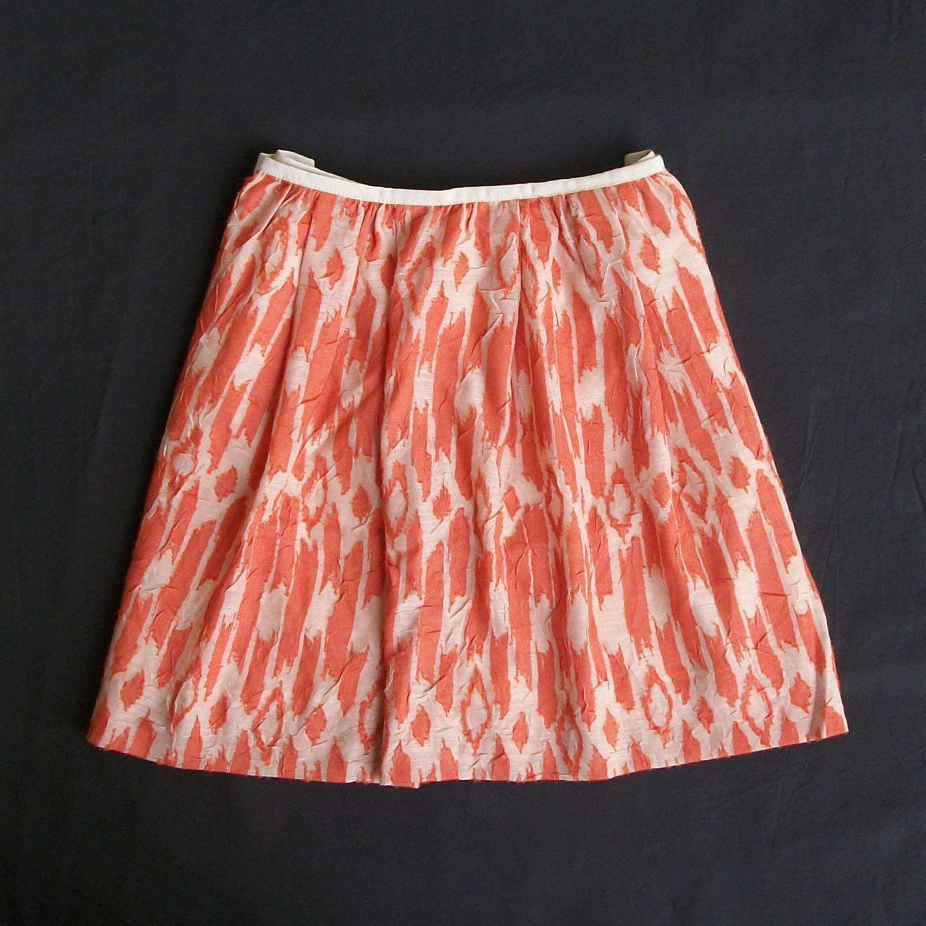 NWOT J.Crew 'Ikat Swing Skirt' 10 (Runs Small)