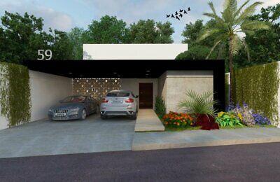 Venta casa de un piso en privada con alberca  en merida privada chaactun casa club trato directo