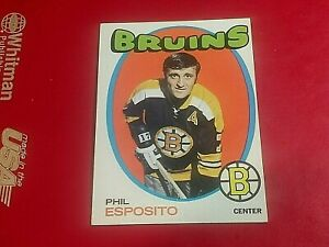 1971-72 TOPPS #20 PHIL ESPOSITO BOSTON BRUINS 4/10-1