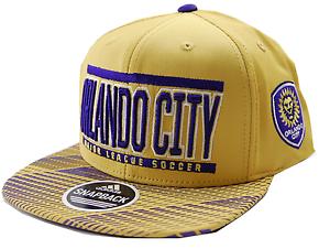 a94444cd611 Orlando City SC adidas VD82Z MLS Evolution Soccer Team Snapback Cap ...