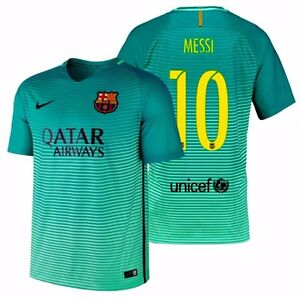 54ff49347 Image is loading NIKE-LIONEL-MESSI-FC-BARCELONA-THIRD-JERSEY-2016-