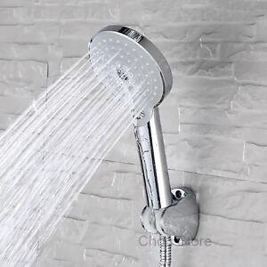 Chrome-Multi-Function-Bathroom-Hand-Held-Rain-Shower-Head-Set-Bracket-Hose-Spray