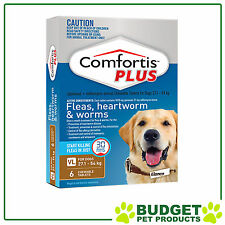 Comfortis Plus For Dogs Brown XLarge 27.1-54kg 6 Pack