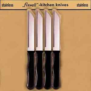 Stupendous Details About Genuine Fixwell 4Pc Stainless Steel Knives Set Made In Germany Fast Post Interior Design Ideas Truasarkarijobsexamcom