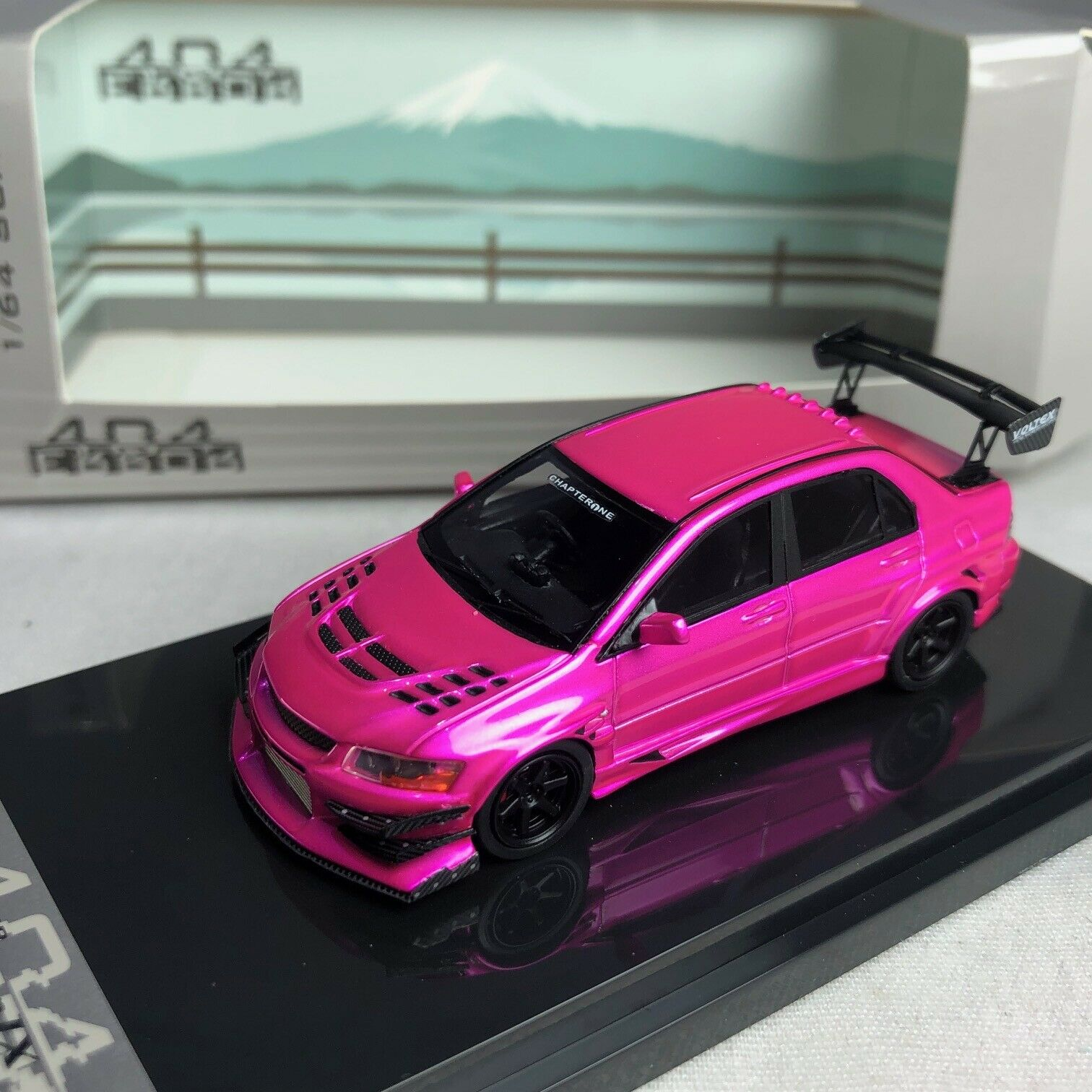 1 64 404 Mitsubishi Lancer Evolution VII  VOLTEX Turn Flash rose Ltd 999 pcs  trouvez votre favori ici