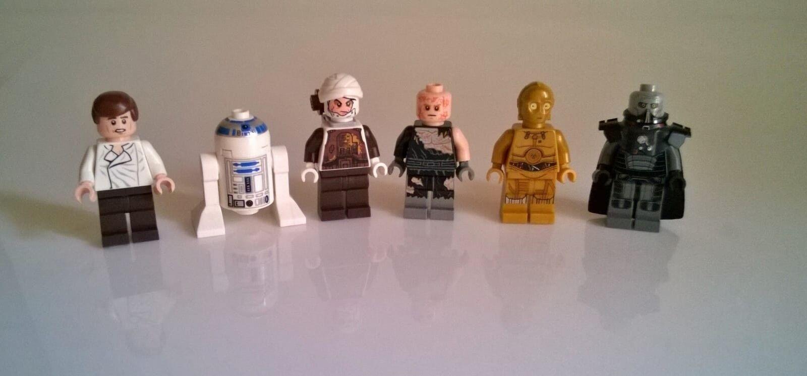LEGO Star Wars Personaggi Darth malgus Anakin han solo Dengar c-3po r2-d2