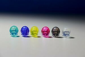 Lot of 6 Lego C-3PO Prototype Minifigure Heads Trans Colors Authentic rare