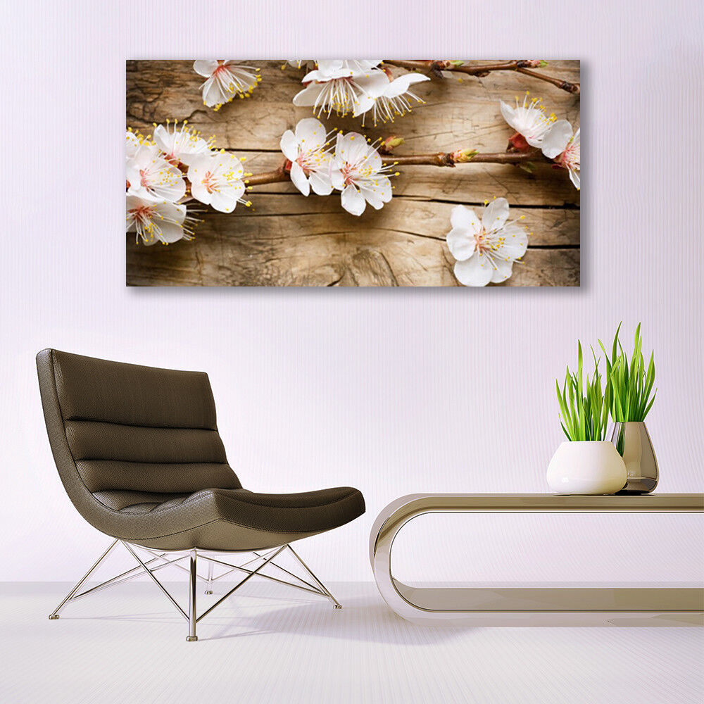 Print Print Print on Glass Wall art 140x70 Picture Image Flowers Floral d2bb17