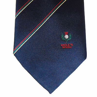 Bells Scottish Open tie Golf Vintage 1980s 1990s Sports Bell's Scotch Whisky