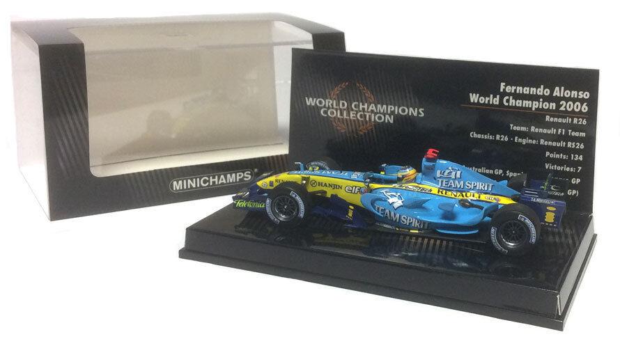 entrega rápida Minichamps Renault R26 R26 R26 2006-Fernando Alonso campeón mundial F1. escala 1 43  el mas reciente