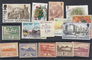 Jersey/Guernsey Colección de 12 incl vistas Mh/VFU JK5153