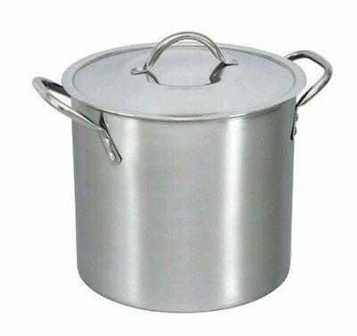 Mainstays 8-Quart Stock Pot with Lid Stainless Steel Kitchen Stove Top Cooking