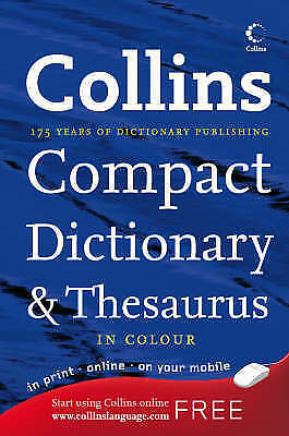 """""""AS NEW"""" Not Known, Collins Compact Dictionary and Thesaurus (Collins Compact),"""