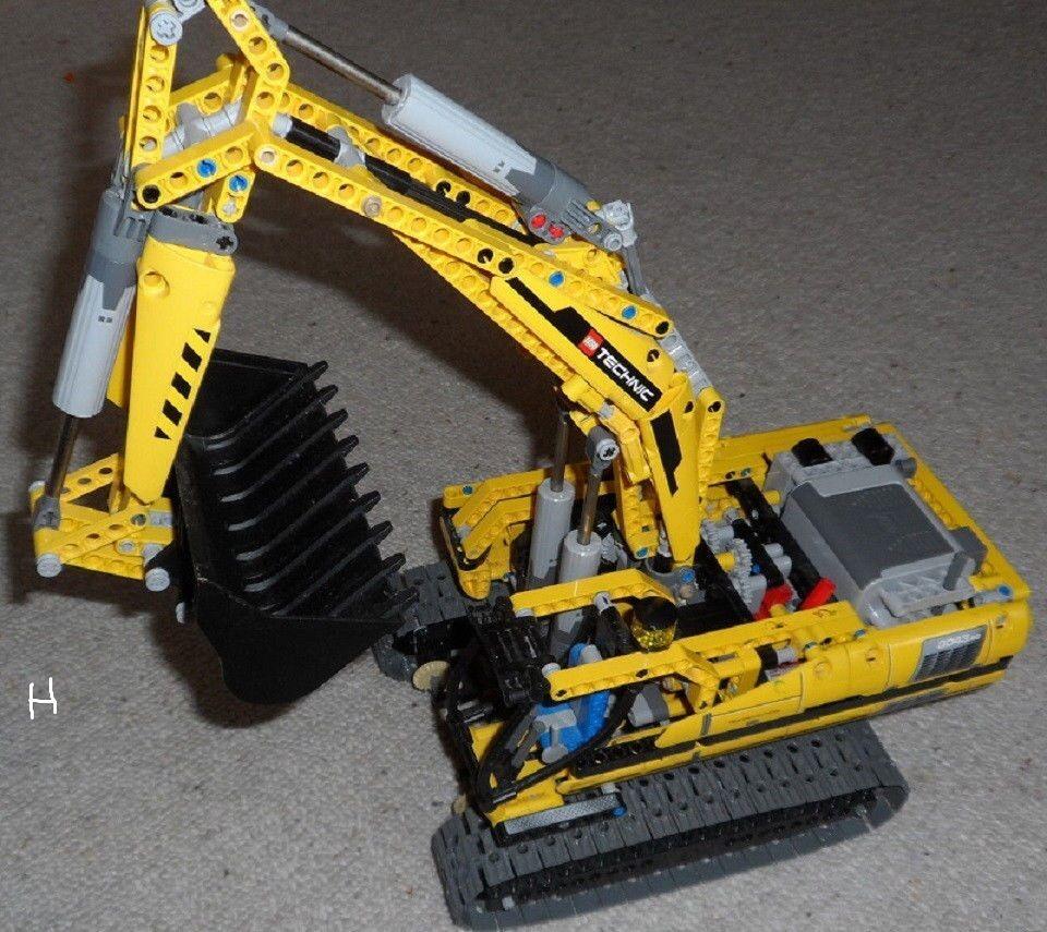 LEGO Technic 8043 - Motorisierter Raupenbagger    RARITÄT ohne power function b4f6f2
