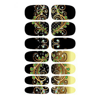 Beauty Adhesive Polish Nail Art Decals Foils Manicure Stickers Wraps Fashion HOT