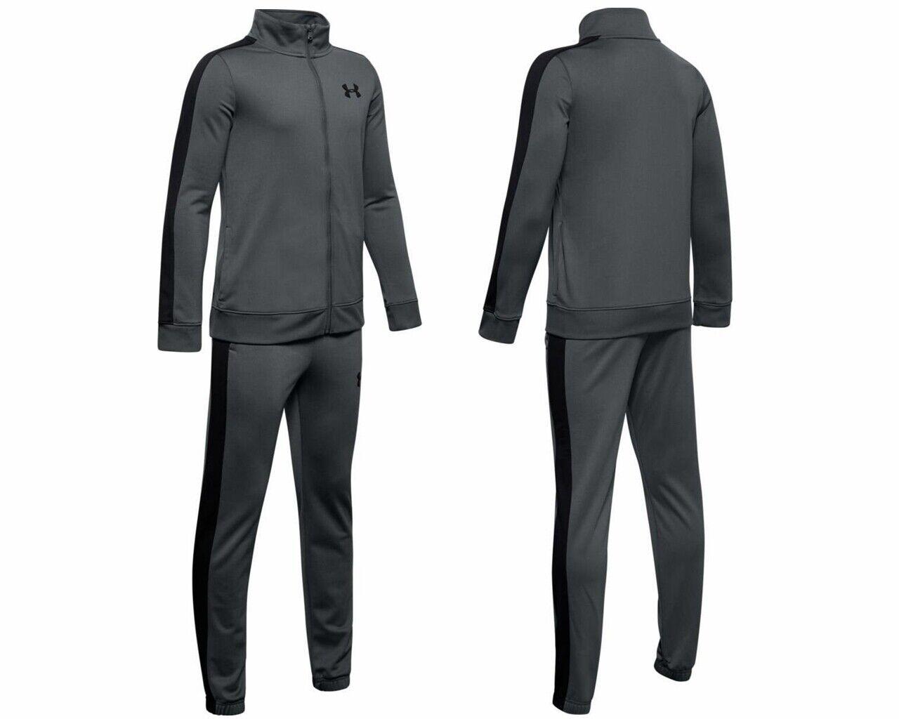 Under Armour Juniors 1347743 Full Zip Boys Tracksuit Grey Jogsuit