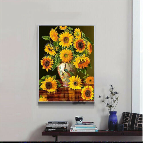 Full Drill DIY Diamond Painting Sunflower Diamond Mosaic Bead Picture Home Decor
