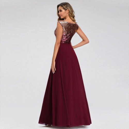 Ever-Pretty Women V-Neck Long Wedding Party Dress Chiffon Homecoming Gowns 0962