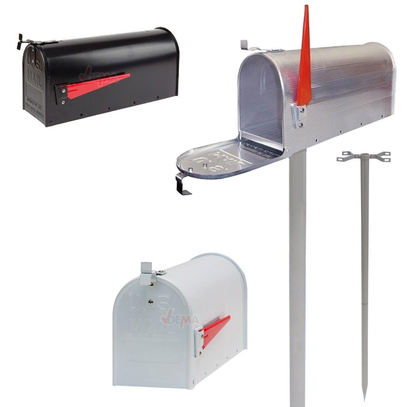 Alu Briefkasten US Mailbox USA Amerika Postbox schwarz weiß silber