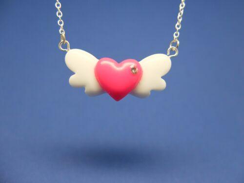 Halskette mit Herz mit Flügeln Anhänger Liebe Love Angel Flügel