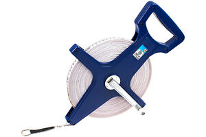 Rollbandmass-100-m-Massband-m-Kurbel-Messband-Rollmassband-Bandmass-metrisch-amp-Zoll