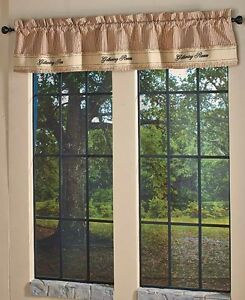 Window Valance Primitive Rustic Country Curtain Kitchen Decor EBay