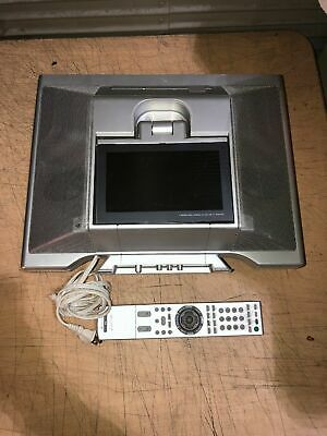 Sony Icf Cd555tv 7 Inch Under Counter Lcd Tv Cd Am Fm Kitchen Clock Radio Ebay