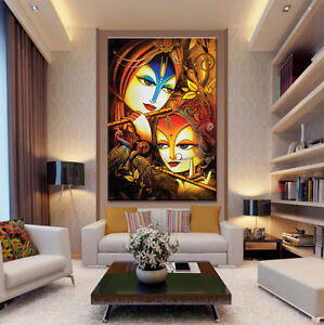 Image Is Loading Wall Decals HD Quality Abstract Radha Krishna Vinyl  Part 73